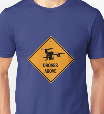 drones above Unisex T-Shirt