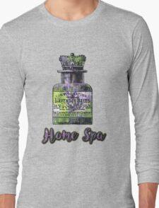 Lavender Bath Salts Old Book Page Vintage Illustration Long Sleeve T-Shirt
