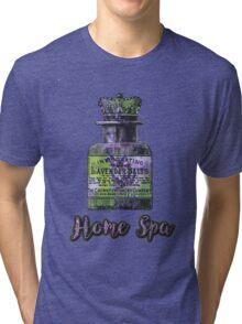 Lavender Bath Salts Old Book Page Vintage Illustration Tri-blend T-Shirt