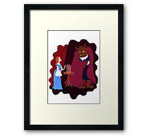 Beauty and beast Framed Print