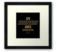 Jon 'Bones' Jones | Gold Framed Print