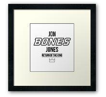 Jon 'Bones' Jones | Black Framed Print