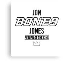 Jon 'Bones' Jones | Black Metal Print