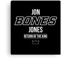 Jon 'Bones' Jones | White Canvas Print