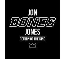Jon 'Bones' Jones | White Photographic Print