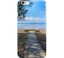 Pathway to the beach. iPhone Case/Skin