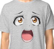 Anime face brown eyes Classic T-Shirt