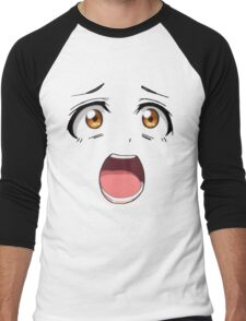 Anime face brown eyes Men's Baseball ¾ T-Shirt
