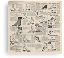 Vintage Shoes News Advertising Victorian Country  Canvas Print
