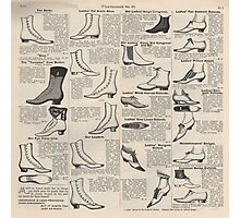 Vintage Shoes News Advertising Victorian Country  Photographic Print