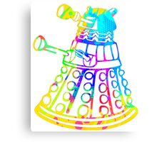 Colorful Splatter Paint Dalek Canvas Print