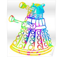 Colorful Splatter Paint Dalek Poster