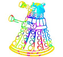 Colorful Splatter Paint Dalek Photographic Print