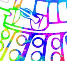 Colorful Splatter Paint Dalek Sticker