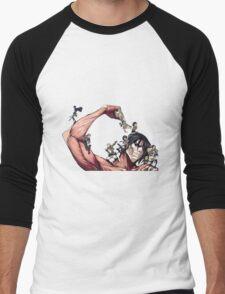 manga l'attaque des titans Men's Baseball ¾ T-Shirt