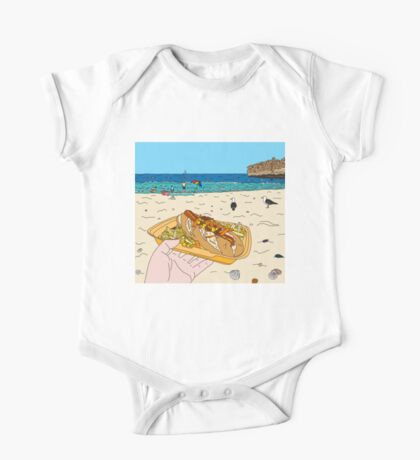Hotdog on the Beach One Piece - Short Sleeve