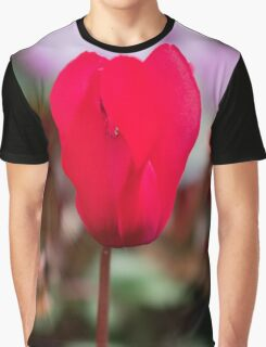 Single Red Flower Graphic T-Shirt