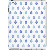 Blue raindrops iPad Case/Skin