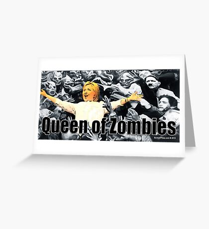 Queen of Zombies Greeting Card
