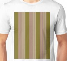 Pattern 016 Gold Pink Broad Stripes Unisex T-Shirt