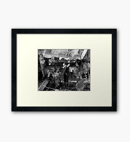 DEMOLITION II B/W Framed Print