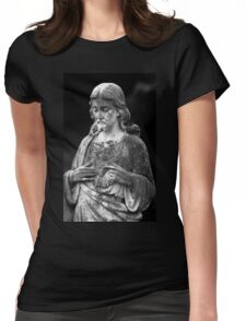 Jesus Statue Womens Fitted T-Shirt