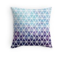 Watercolor triangle Throw Pillow