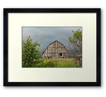 Abandoned wooden barn - Fitzroy Harbour, Ontario Framed Print
