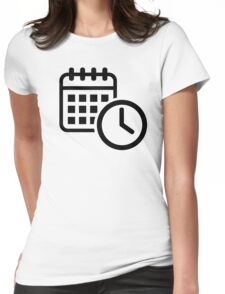 Calendar clock Womens Fitted T-Shirt