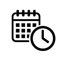 Calendar clock Photographic Print