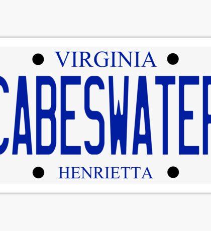 Cabeswater License Plate Sticker