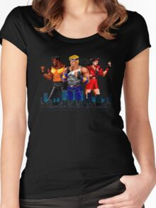 STREETS OF RAGE - AXEL-BLAZE-ADAM - CITY (2) Women's Fitted Scoop T-Shirt