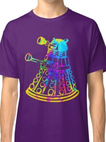 Colorful Splatter Paint Dalek Classic T-Shirt