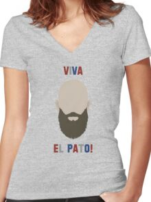 Tim Howard World Cup Women's Fitted V-Neck T-Shirt