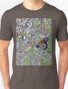 Colourful Stained Glass Butterfly - Abstract Unisex T-Shirt