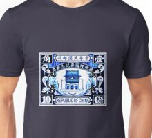 China Blue Print Unisex T-Shirt