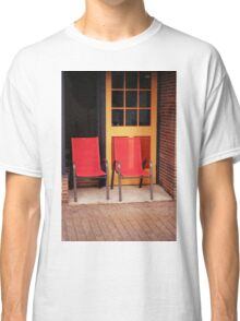 Two Red Chairs In Doorway Classic T-Shirt
