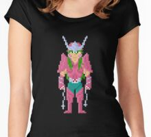 Shun - Saint Seiya Pixel Art Women's Fitted Scoop T-Shirt