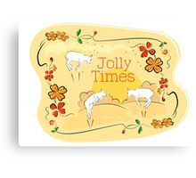 Jolly Times Canvas Print