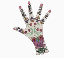 Celtic Mehndi hand One Piece - Short Sleeve