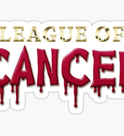 League Of Cancer Sticker