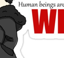 Human Beings Are Weak - Izaya Orihara Shirt Sticker