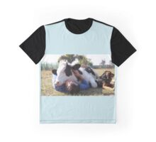 Hugging a Cow Graphic T-Shirt