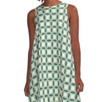 Green Grover A-Line Dress