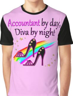 ACCOUNT BY DAY DIVA BY NIGHT SHOE QUEEN Graphic T-Shirt