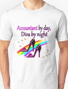ACCOUNT BY DAY DIVA BY NIGHT SHOE QUEEN Unisex T-Shirt