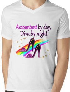 ACCOUNT BY DAY DIVA BY NIGHT SHOE QUEEN Mens V-Neck T-Shirt