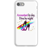 ACCOUNT BY DAY DIVA BY NIGHT SHOE QUEEN iPhone Case/Skin