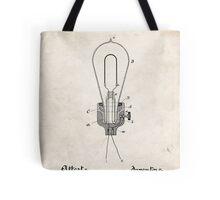 Edison Light Bulb Invention US Patent Art Tote Bag