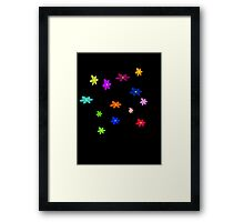 Twelve plus one cheerful flowers transparent background Framed Print
